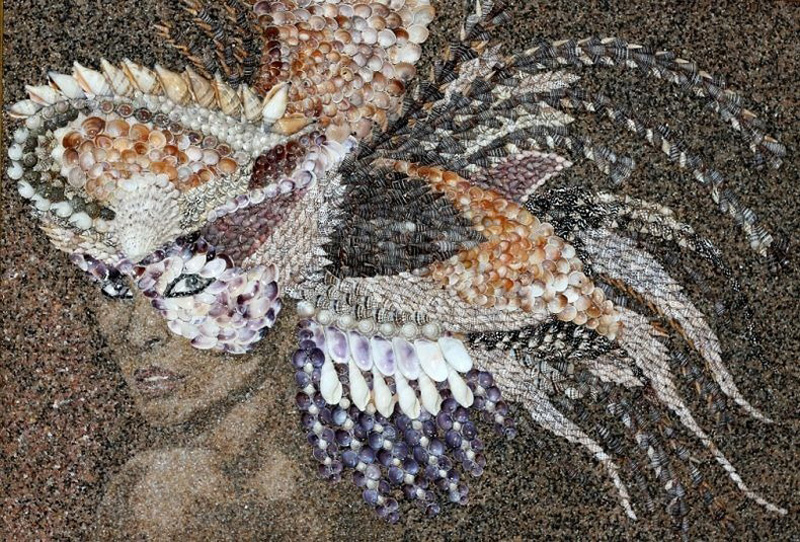 Песок и ракушки. Картины