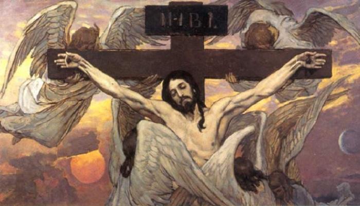 Что означает аббревиатура на табличке над распятием Иисуса и, почему его образ отличается в католической и православной иконографии