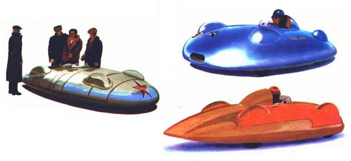 Гоночные автомобили Звезда (1946), Звезда-3М (1950), Звезда-М-НАМИ (1951).