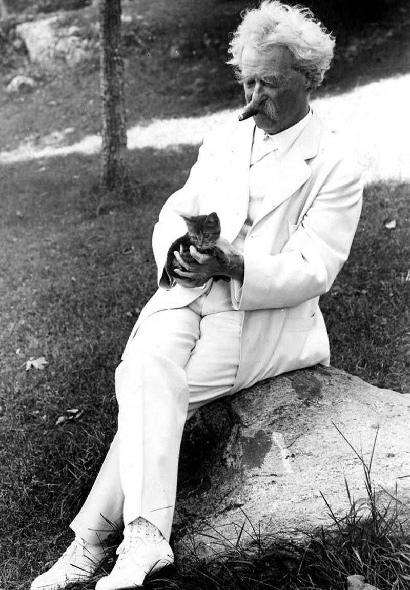 А вы знали, что Марк Твен был ещё тем кошачьим папочкой?