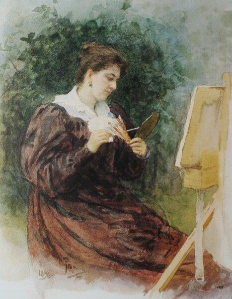 Портрет М. К. Тенишевой. Илья Ефимович Репин, 1896