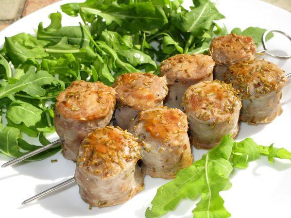 Шашлык из домашних колбасок