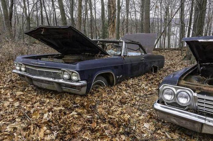 Брошенные легендарные ретро автомобили
