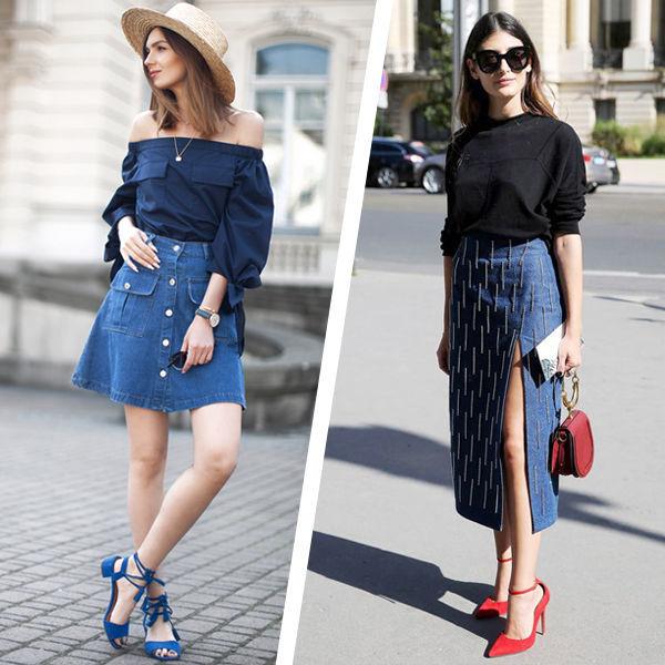 b04813553a0 Фасоны джинсовых юбок бесчисленны. Ведь каждый сезон дизайнеры не забывают  дополнить свои коллекции вещами из денима. Короткие и длинные