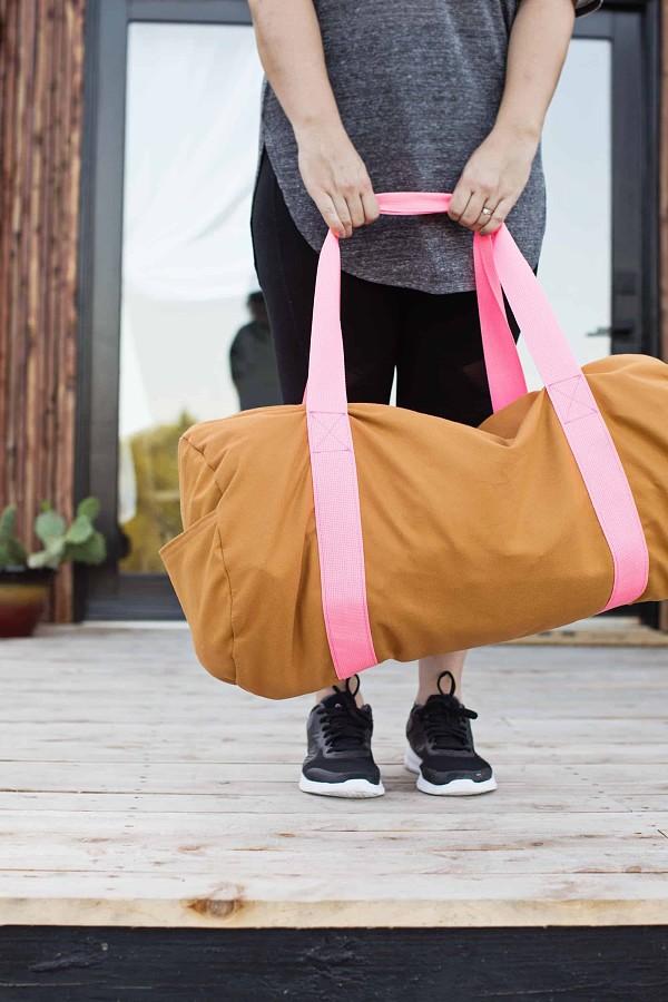 Большая спортивная сумка безвыкройки: мастер-класс