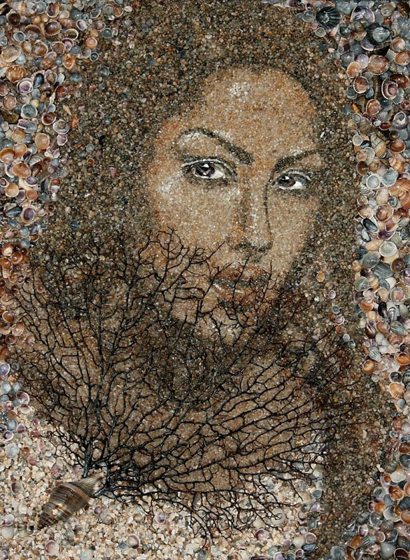 mozaikaizpeska 1 Мозаика из песка и ракушек от Светланы Иванченко