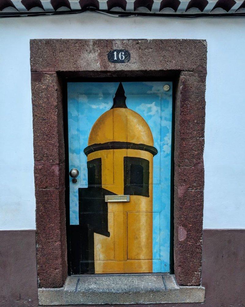 13. дверь, картина, мадейра, португалия, путешествие, фотография, фотомир