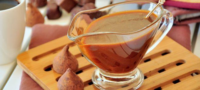 Карамельно-шоколадный соус