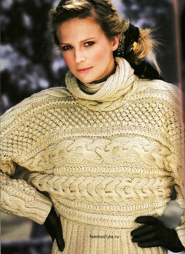 Вязание спицами свитера