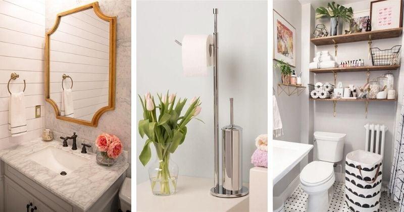 В маленькой ванной поместится всё: 20 идей декора и хранения
