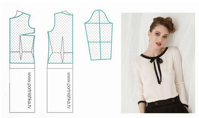 10 модных легких блузок с выкройками, которые можно сшить за пару часов… Стильные обновки для гардероба!