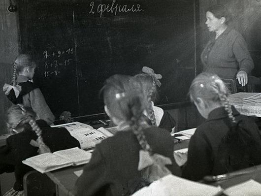 Деревенская школа 1964 года