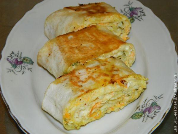 Хрустящая закуска в лаваше