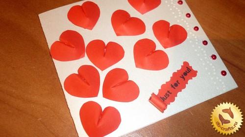 Как сделать открытку на день святого валентина главная