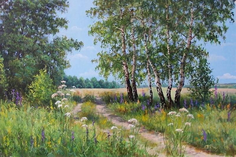 Нежное очарование летней природы в пейзажах Елены Прокушевой