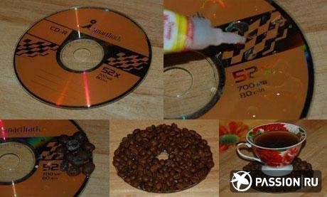Подставка для карандашей своими руками из дисков