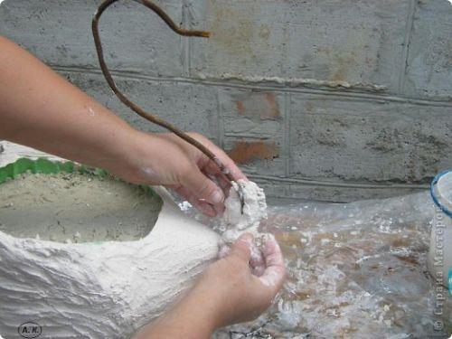 Кашпо-лебедь своими руками
