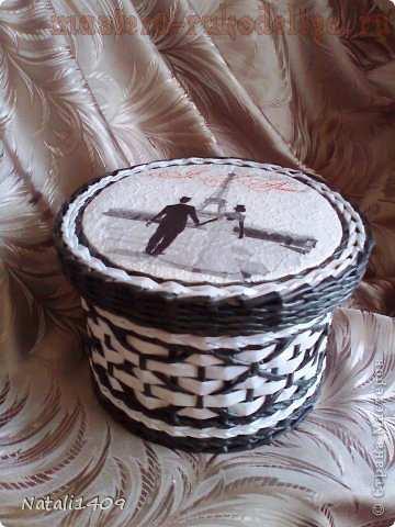 Мастер-класс по плетению из газет: Ромбики (соты)