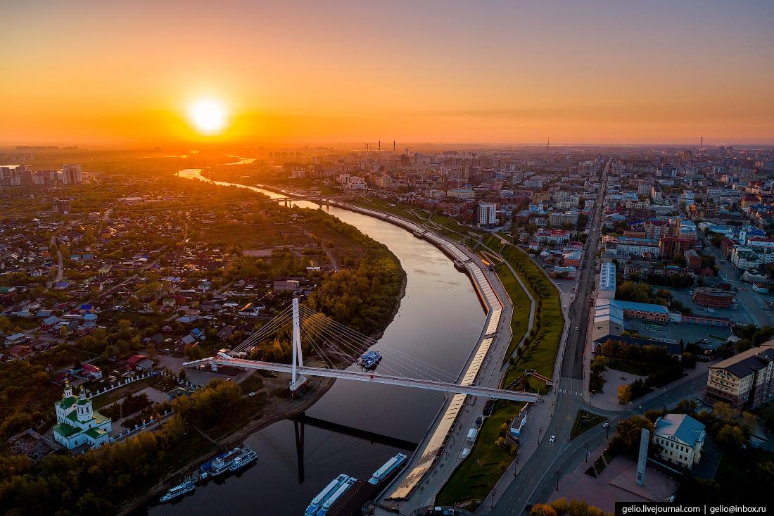 Тюмень с высоты - первый русский город Сибири