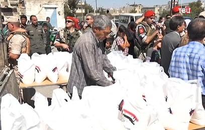 Российские военные помогают налаживать мирную жизнь в Сирии