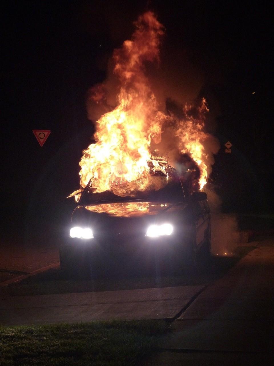 В Северной Ирландии взорвался автомобиль