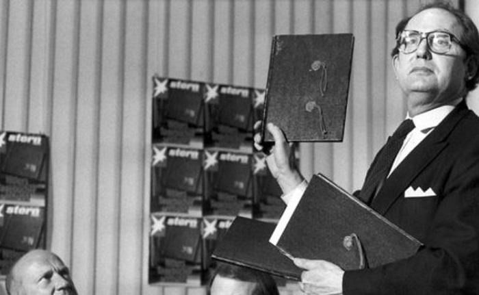 Демонстрация фальшивых дневников Гитлера, 1983 год. | Фото: niyisi.net.