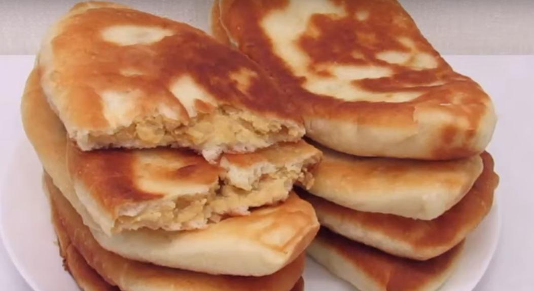 Тонкие пирожки с горохом - вкусные и очень аппетитные