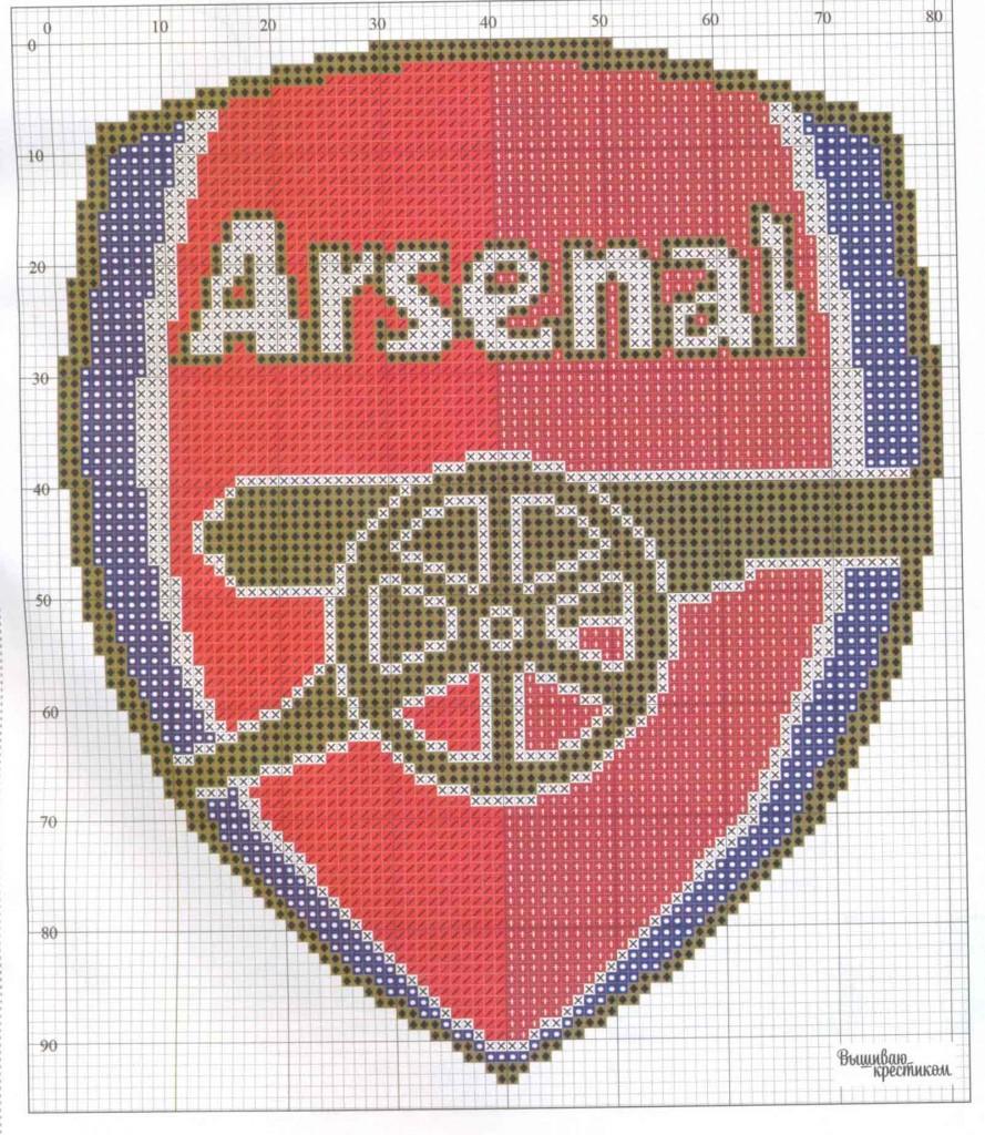 Схему для вышивки футбол