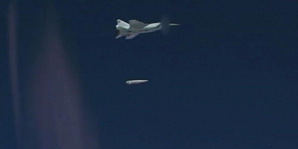 Появилось видео с испытаний новой гиперзвуковой ракеты «Кинжал»