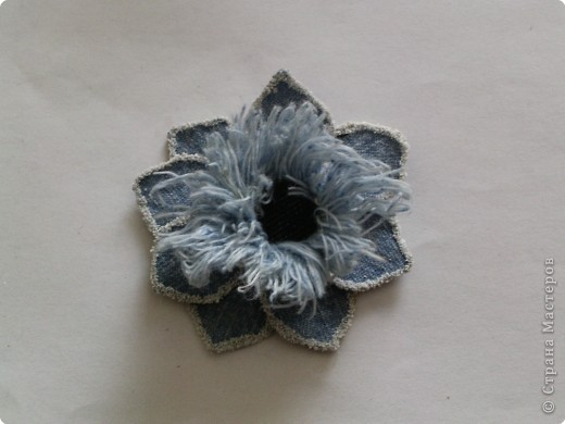 Мастер-класс Вырезание: Цветок из джинса №2+МК Ткань. Фото 19