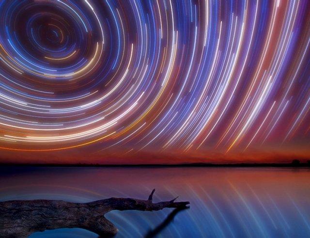 Хороводы звезд (startrails) - вращение небесной сферы