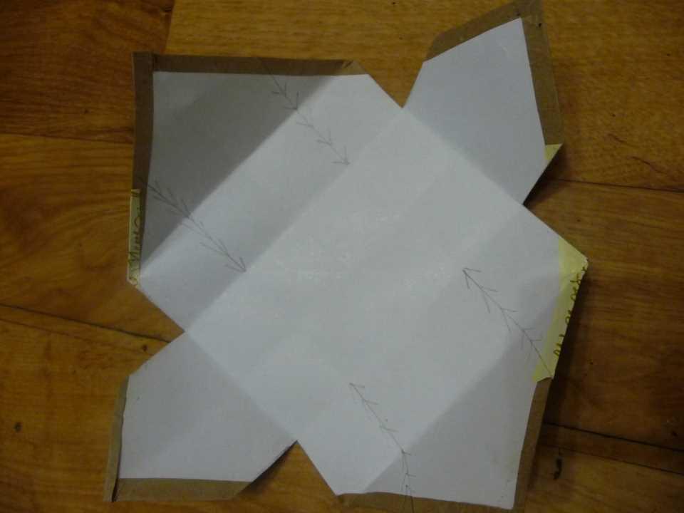 Комодик для украшений своими руками - разрезаем лист по линиям