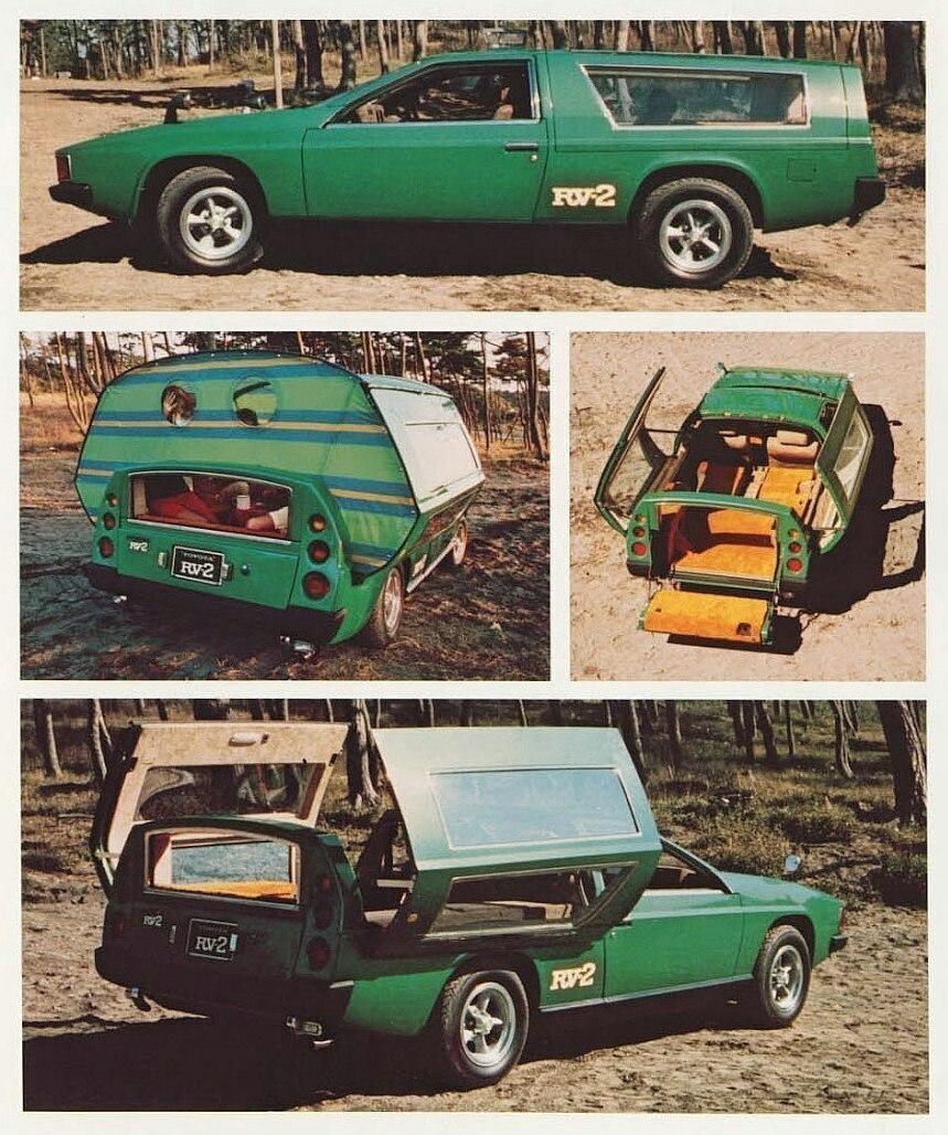 Toyota RV-2 легковой дом на колёсах 1972 года