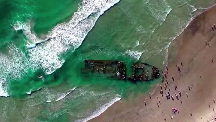 К берегам Калифорнии прибило российский «корабль-призрак»
