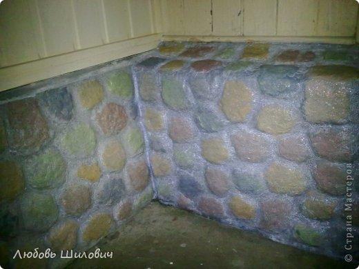 Мастер-класс Лепка Имитация природного камня на фундаменте  фото 5