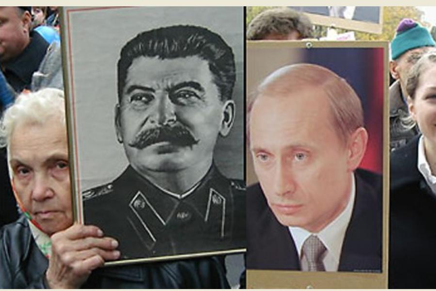 Путин и Сталин. Сравнение ци…