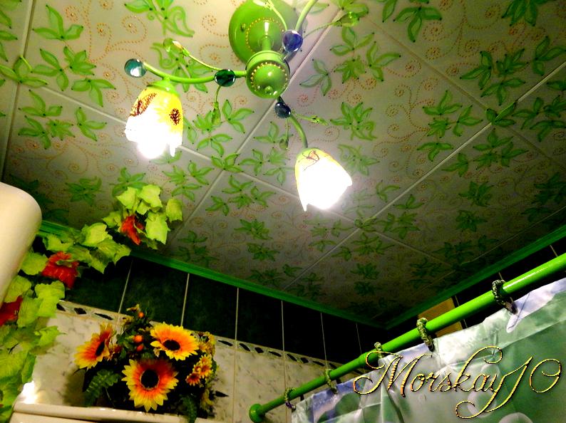 """Расписной потолок или """"Не было бы счастья...да несчастье помогло!"""""""