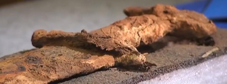 Тысячелетний меч найден под …