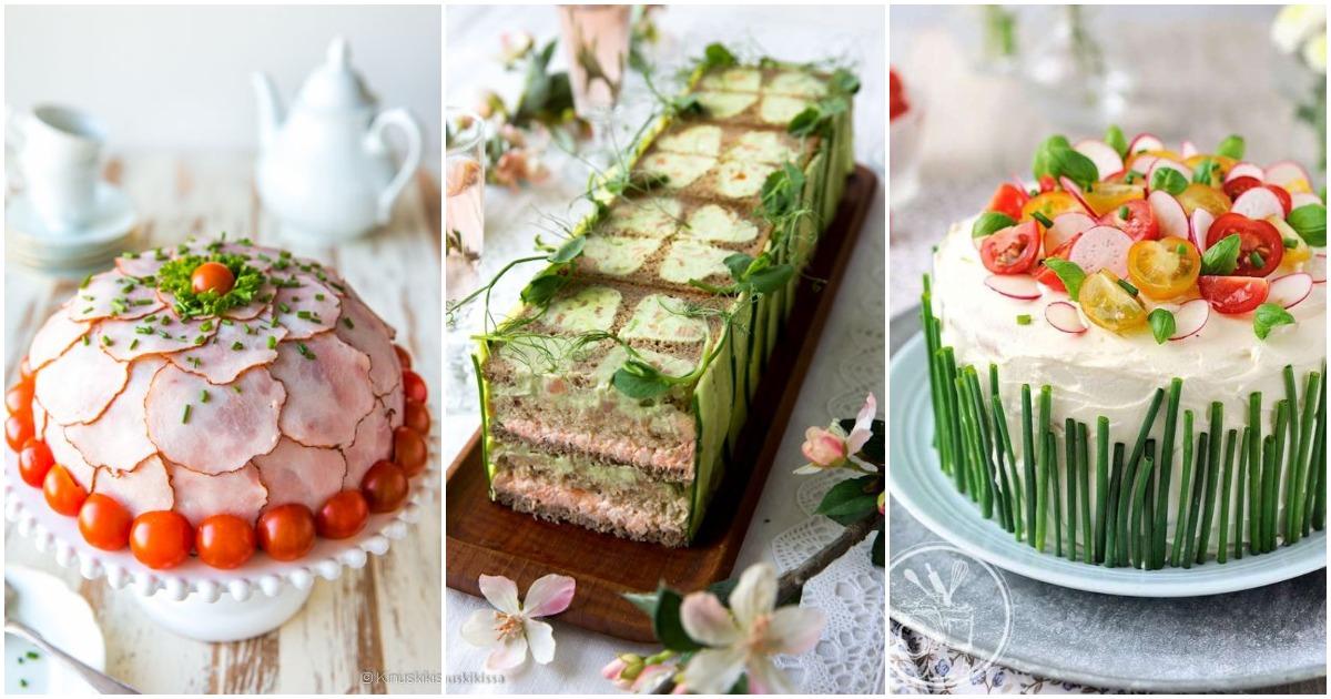 Бутербродный торт — закуска, которая нравится всем, кто бы её ни пробовал