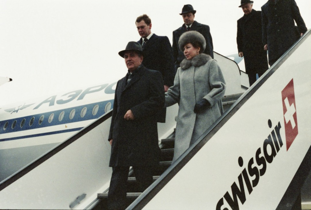 Visit of Mikhail Gorbachev to Switzerland