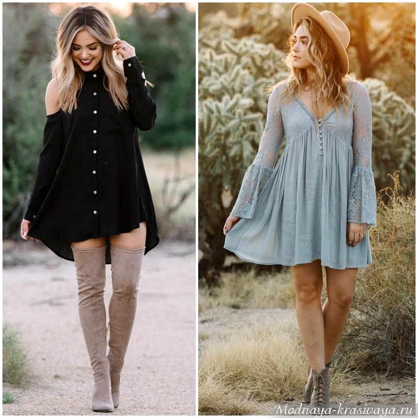 Просторные А-образные платья