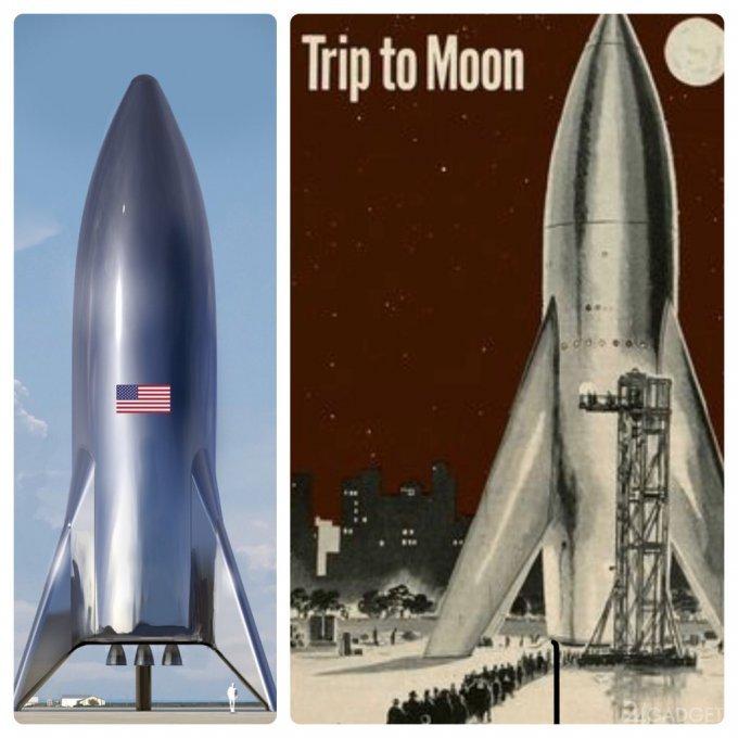 Илон Маск показал как будет выглядеть звездолёт Starship