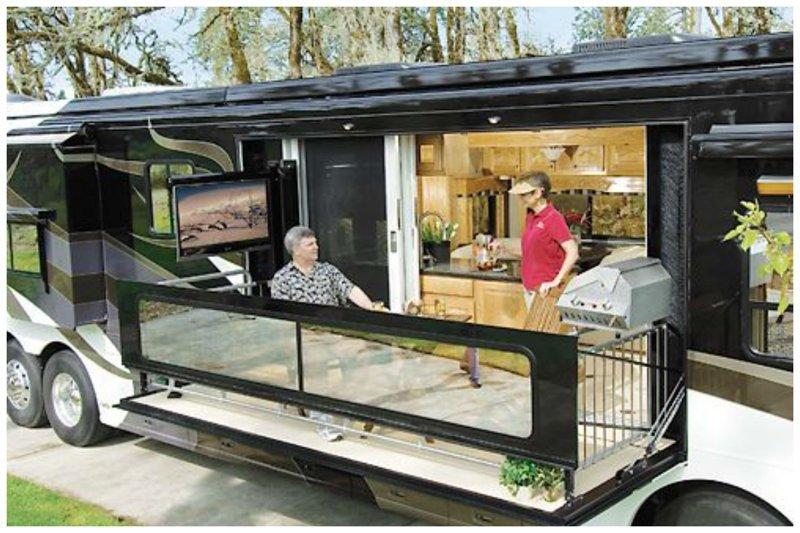 Есть модели со своим балкончиком автомир, дома на колесах, красота, удобство, чудеса