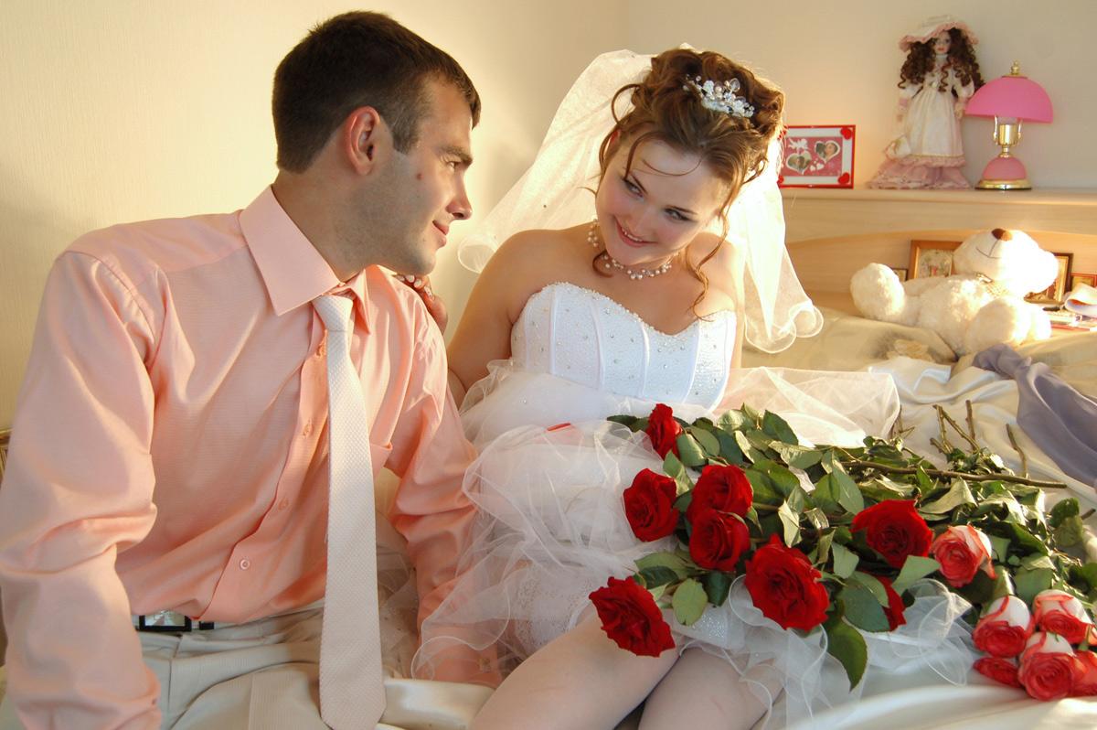 смотреть красивый секс молодых после свадьбы