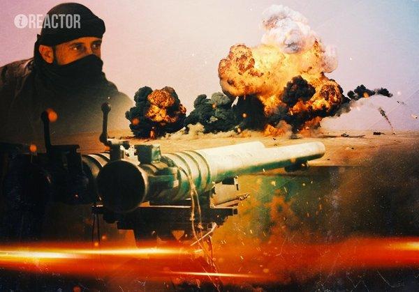 "Сирийский солдат С ПЛЕЧА ""шмальнул"" 47-килограммовым СПГ-9"