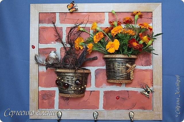 Ключница - цветочница своими руками