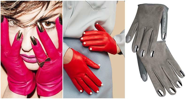 Креативная идея для настоящих леди — перчатки с маникюром