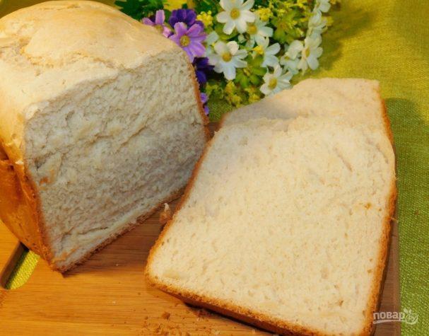 Молочный хлеб с чесноком в хлебопечке