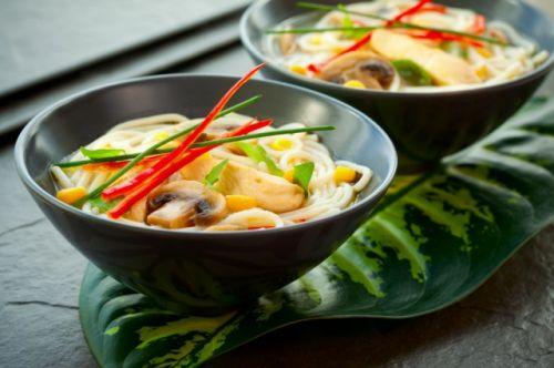 Грибной мисо-суп по-японски