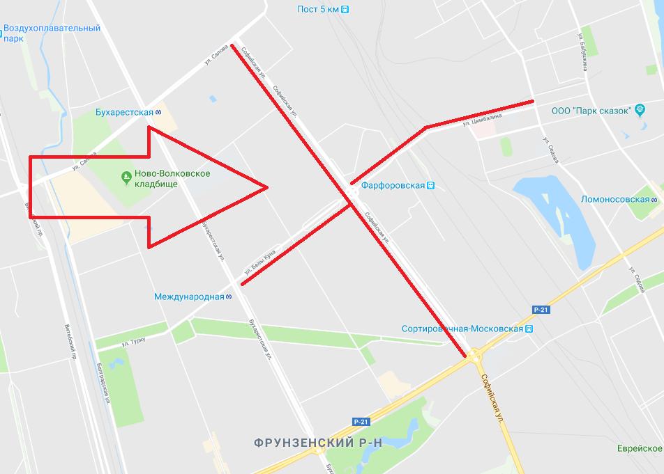 Цимбалинский путепровод в Петербурге перекроют на полгода